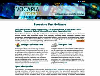 in.vocapia.com screenshot