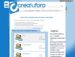 in10.creatuforo.com screenshot