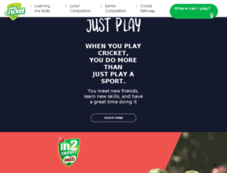 in2reg.cricket.com.au screenshot