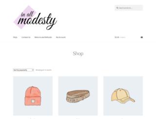 inallmodesty.com screenshot