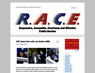 inaracetoserve.wordpress.com screenshot