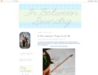 inbetweenlaundry.blogspot.com screenshot