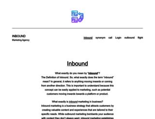 inbound.co.za screenshot