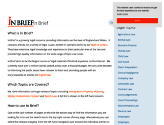 inbrief.co.uk screenshot