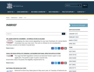 inbrief.nswbar.asn.au screenshot