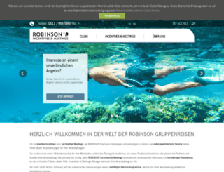 incentivereisen.robinson.com screenshot