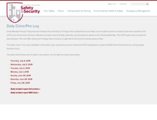 incidentreports.uchicago.edu screenshot