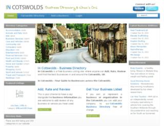 incotswolds.co.uk screenshot