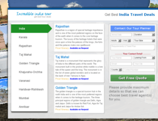 incredible-india-tour.info screenshot