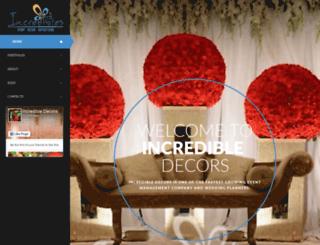 incredibledecors.com screenshot