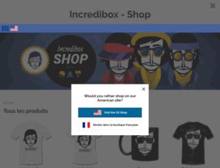 incredibox-shop.spreadshirt.fr screenshot