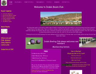 indalobowlingclub.org screenshot