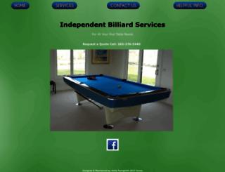 independentbilliardservices.com screenshot