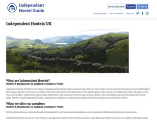 independenthostelsuk.co.uk screenshot