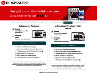 independentsubscriptions.co.uk screenshot