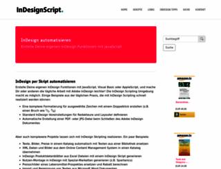indesignscript.de screenshot