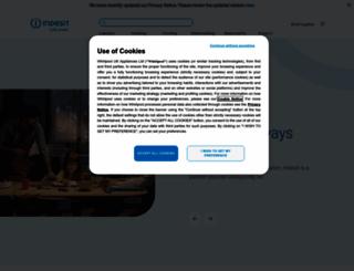 indesit.co.uk screenshot
