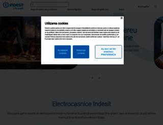 indesit.ro screenshot
