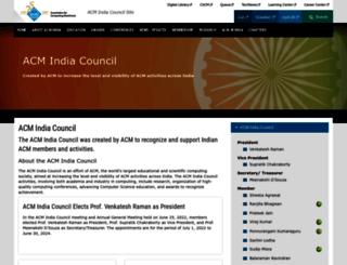india.acm.org screenshot