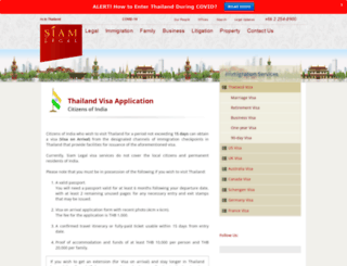 india.siam-legal.com screenshot