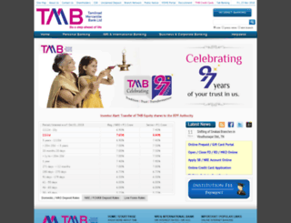 india.tmb.in screenshot