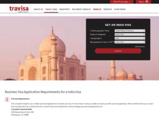 india.travisa.com screenshot