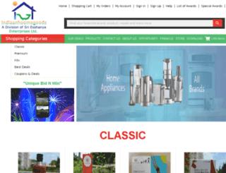 indiaanhoomegoods.com screenshot