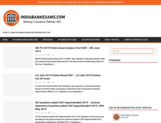 indiabankexams.com screenshot