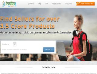indiabiztrade.com screenshot