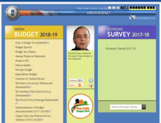 indiabudget.nic.in screenshot