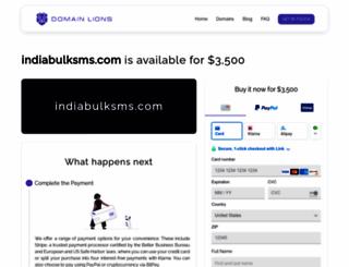 indiabulksms.com screenshot