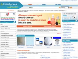 indiachemicalexporters.com screenshot