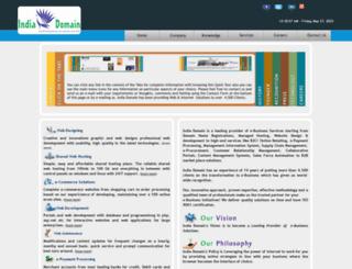 indiadomain.com screenshot