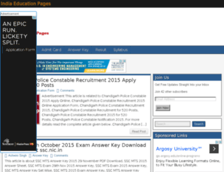 indiaeducationpages.in screenshot