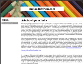indiaeduforum.com screenshot