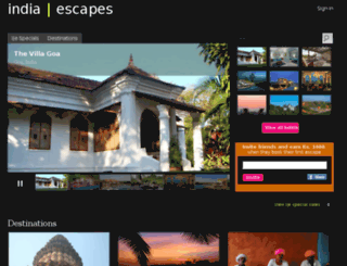 indiaescapes.com screenshot
