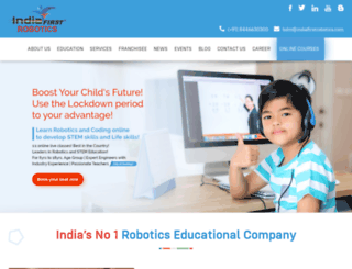 indiafirstrobotics.com screenshot