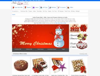 indiaflowermall.com screenshot