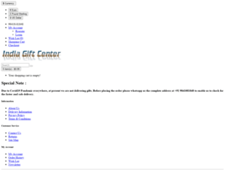 indiagiftcenter.com screenshot