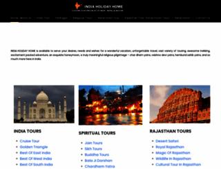 indiaholidayhome.com screenshot