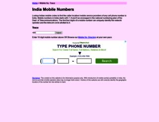 indiamobilenumber.com screenshot