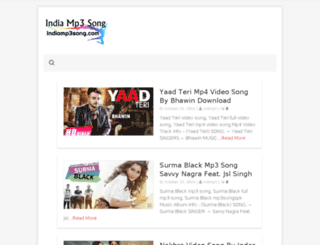 indiamp3song.com screenshot