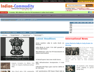 indian-commodity.com screenshot