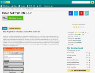 indian-rail-info-app.soft112.com screenshot