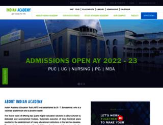 indianacademy.edu.in screenshot