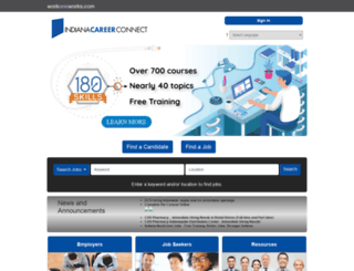 indianacareerconnect.com screenshot