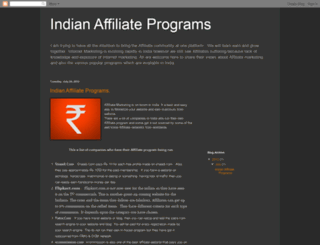 indianaffiliateprograms.blogspot.in screenshot