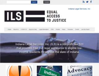 indianalegalservices.org screenshot
