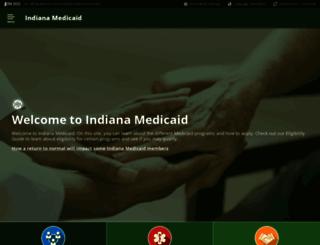 indianamedicaid.com screenshot