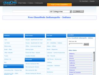 indianapolis.classiopen.com screenshot